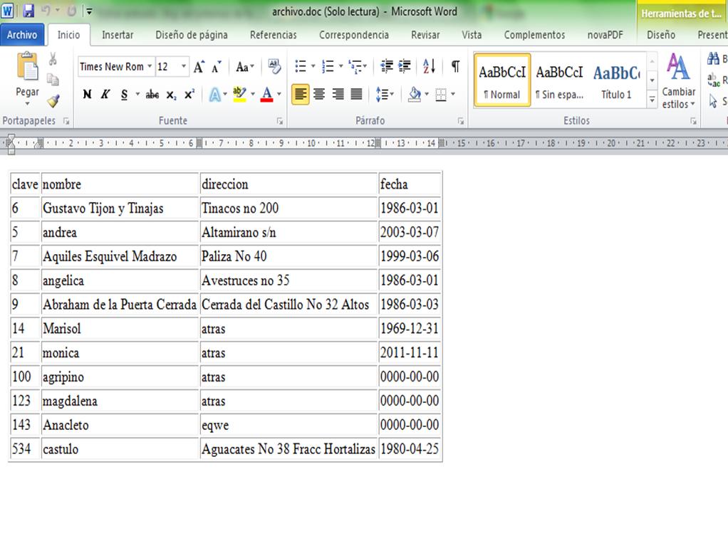 Programación Básica en php (exportar a word) | Sistemasumma