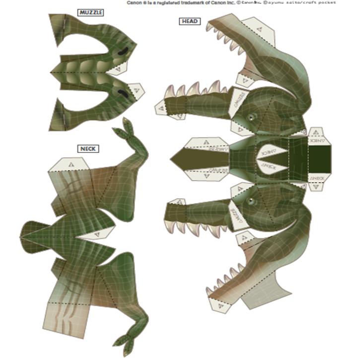 Como Hacer Un Dinosaurio De Papel