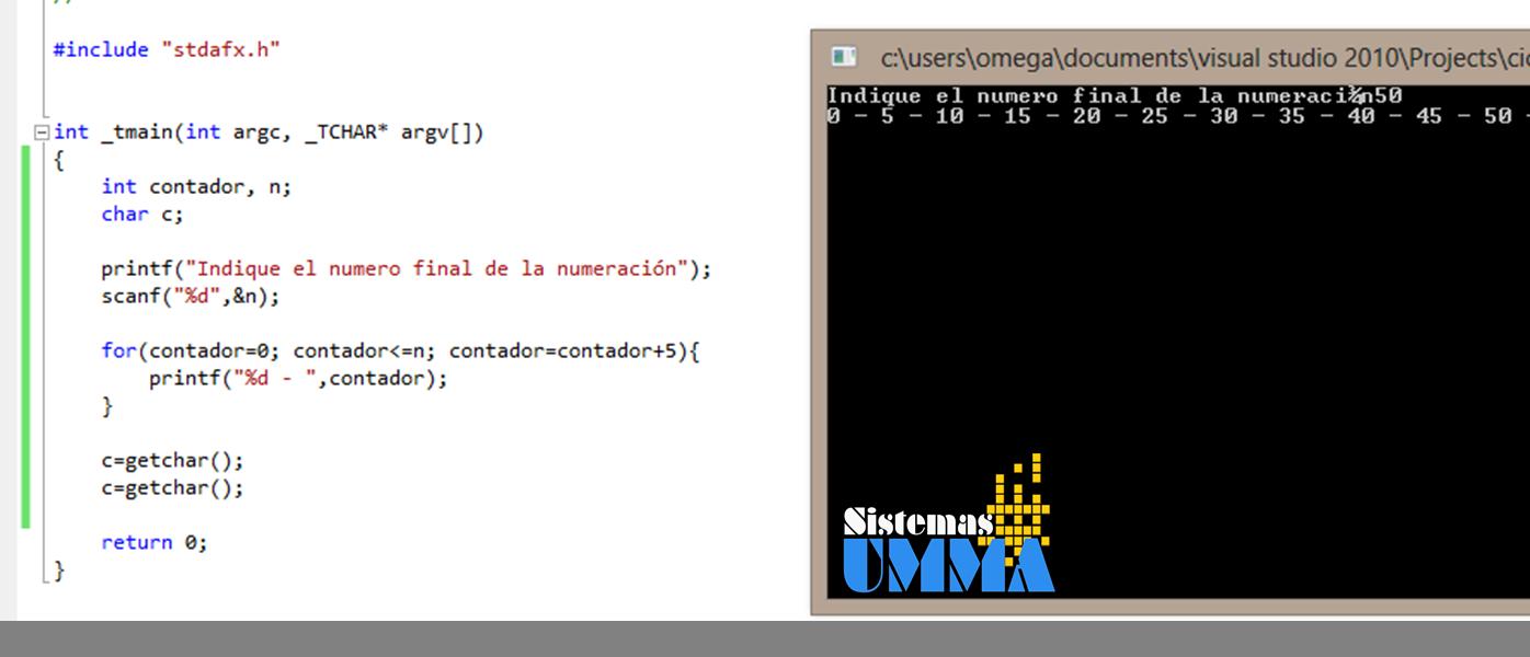Primeros pasos en programaci n viii ciclo for sistemasumma for En programacion dato que no cambia su valor