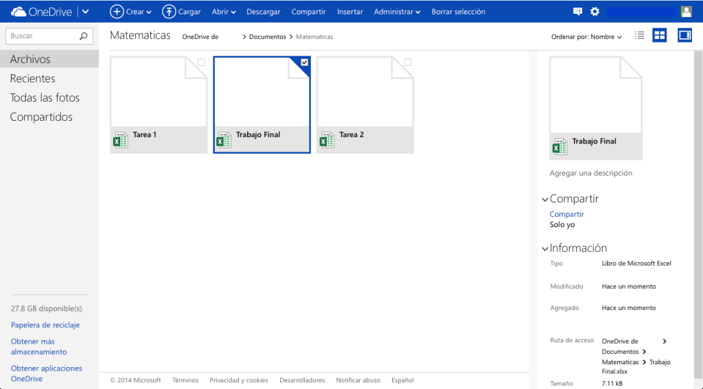 Organiza las carpetas de tus materias con OneDrive