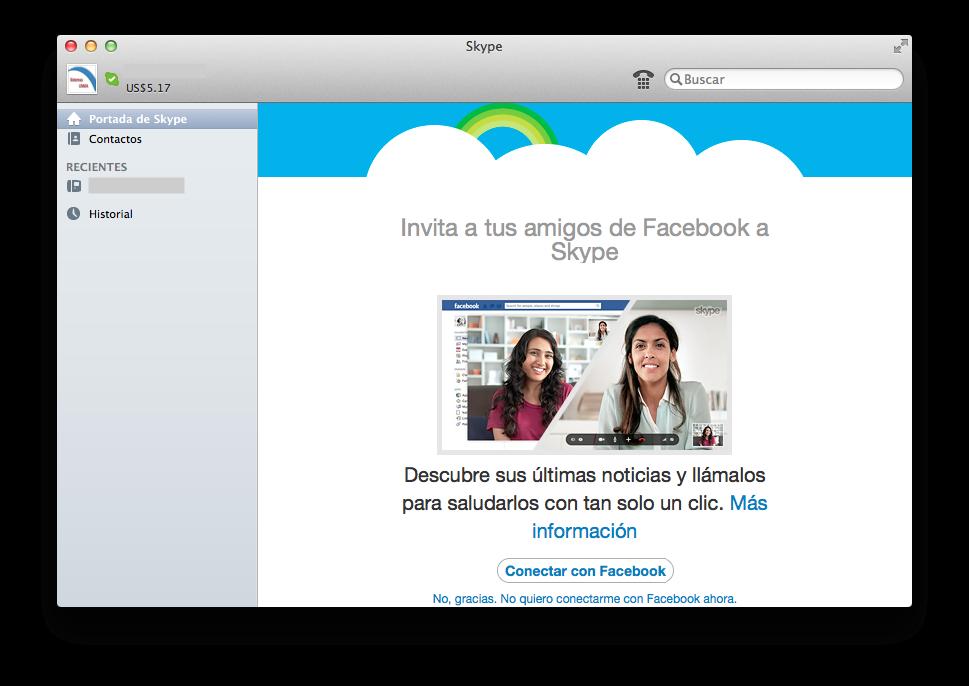 Skype para las videollamadas con tus compañeros