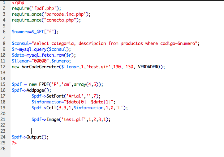 Códigos De Barras Presente En Toda La Cadena De: Códigos De Barra En PDF Con PHP