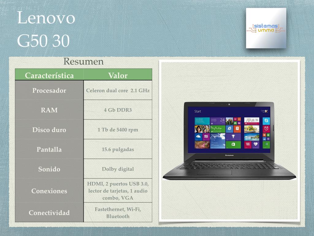 Laptop Lenovo G50 30 – Revisión