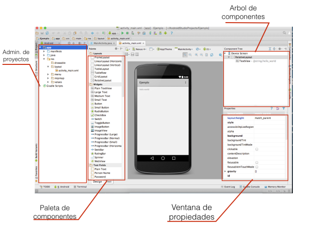 interfaz android studio
