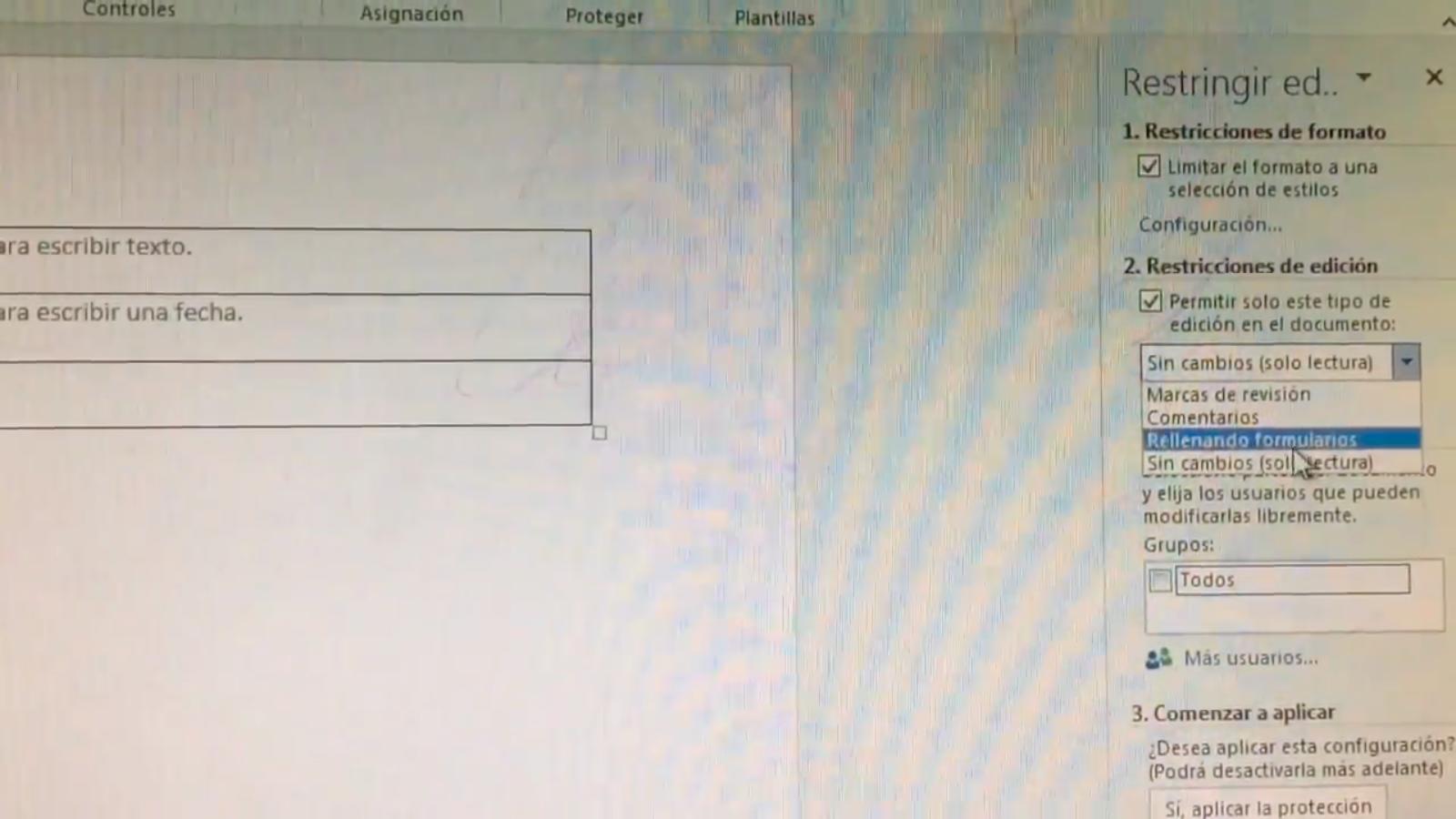 Como hacer un formato para rellenar en Microsoft Word 2016 ...